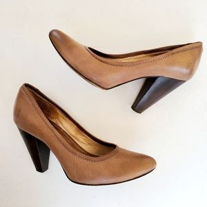 Frye Leather Regina High Heels Pointed Toe Pumps
